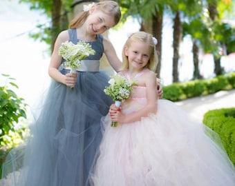 Flower Girl Dress Charcoal