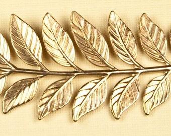 Vintage Leaf Branch Necklace