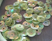 Vintage Sequins Strand MINT GREEN RAINBOW Couture full strand cups 6mm
