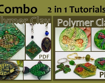 Polymer Clay  2 in 1 Combo Tutorial - Fish & Dragonfly Key chains - Digital PDF Download