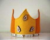 Wool Felt Crown - Yellow Squirrel