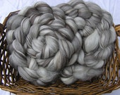 4 oz Undyed Mixed Blue Faced Leicester (BFL) Combed Top