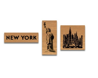 New York Rubber Stamp set cavallini stamps cavallini rubber stamps