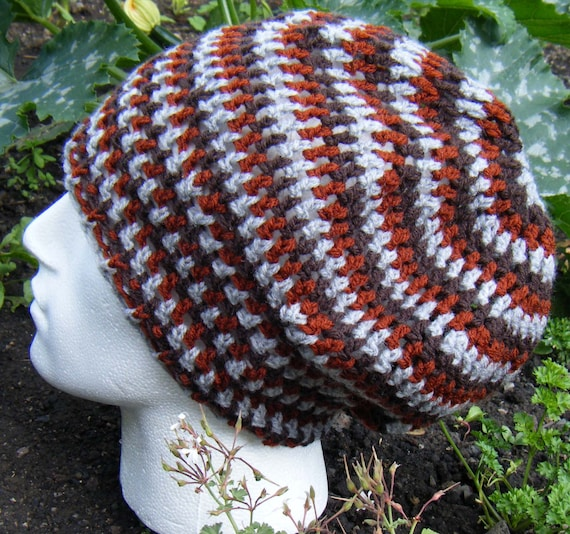 Crochet Pattern for Slouchy Rasta Tam Hat PDF