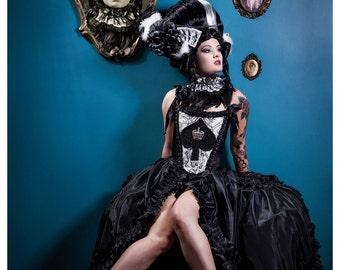 Custom burlesque /fashion/alt bride/photography shoot/costume set