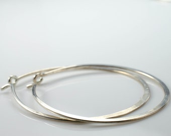 Sterling Silver Hoop Earrings - Medium Size