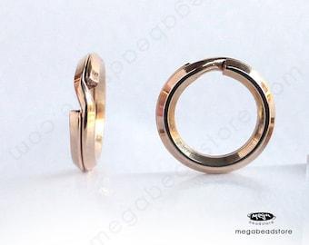 10 pcs 7mm Split Rings 14K Gold Filled Key Rings Connectors F441GF
