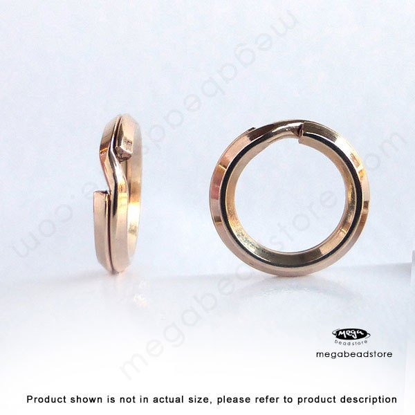 Mm Round Flat Split Rings Gold