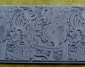 FLOWER DOODLE Texture Rubber Stamp TTL-131