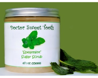 Spearmint Sugar Scrub (Paraben Free) 8oz