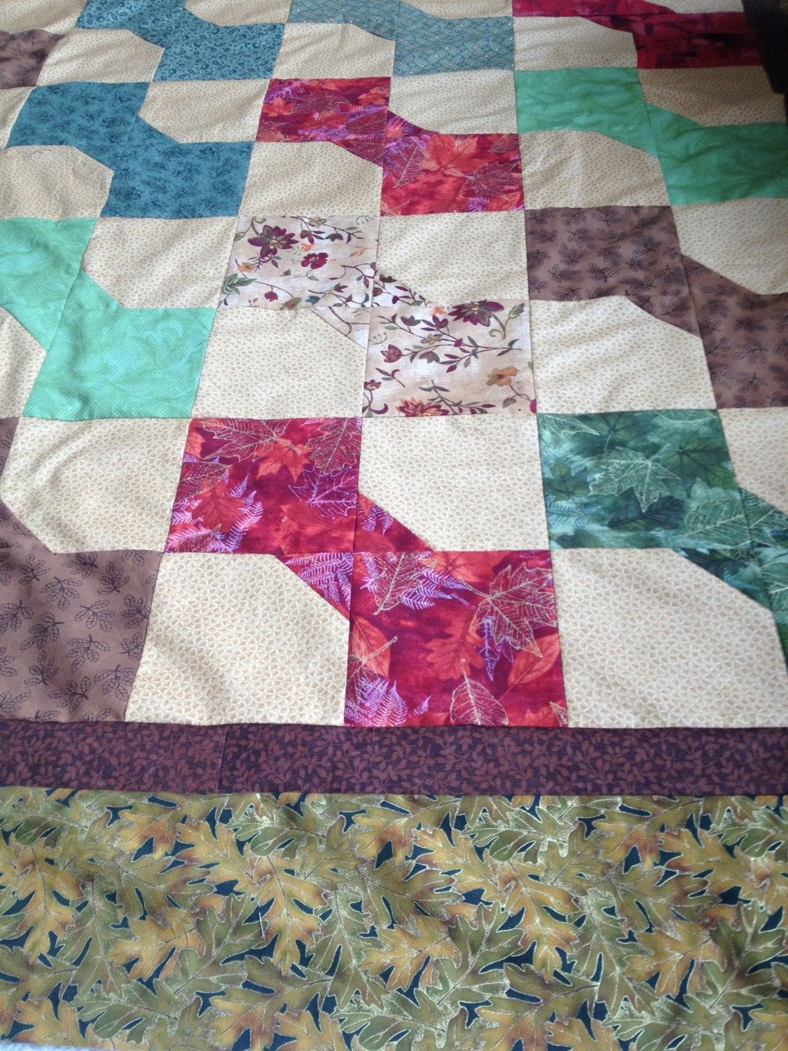 Pattern for Bow Tie Quilt with 3 size options King Queen Twin