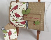 Merry Christmas Gift Pillow Box and Tag...Custom for RoseofBlood