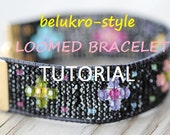 TUTORIAL for Hippy Chick Rustic Crystal Loomed Woven Bracelet Set ON SALE For A Limited Time