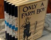 Handbound Concertina Journal or Album From Vintage Book FARM BOY