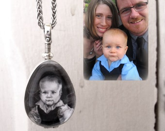 Custom Portrait Locket - Baby - Child - Son - Daughter Personalized Drawing - Family Gift - Push Present - Ferneyhough - Rickson Jewellery