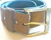 Vera Neumann Belt - Vintage 1960's Door Hinge Suede