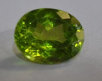 Peridot oval gemstone arizona