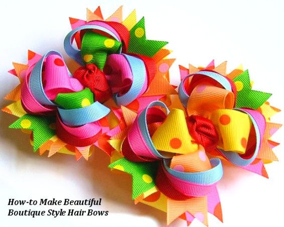 boutique style hair bow tutorial unavailable listing on etsy 6832