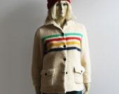 Vintage 60s HUDSON BAY striped blanket coat XS / S (sale!)