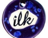 Ilk Ceramic Necklace in Purple and Blue