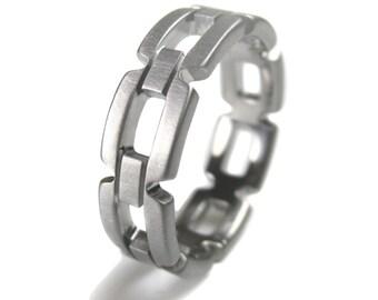 Titanium Chain Link Ring