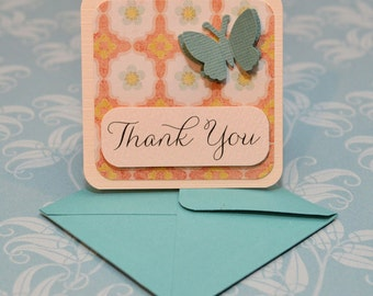 Butterfly Thank You Mini Cards - Set of 8