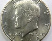 1964 D Kennedy Half Dollar AU