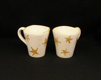 Mugs. Starfish Mugs. Starfish. Coffee. 12 oz. Handmade by Sara Hunter Designs