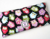 Microwavable Heating Pad HOOT OWLS, Heat Therapy, Doula, Removable Cover, Hot cold pack, aromatherapy, menstrual cramps