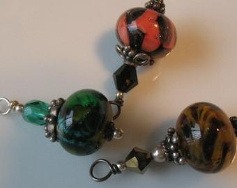 Lampwork bead pendant-handmade lampwork bead pendant