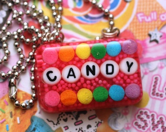 Candy Is Dandy - Rainbow Resin Candy Sprinkles Necklace