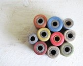 RESERVED - Vintage Cotton Thread Spools - Set of 10