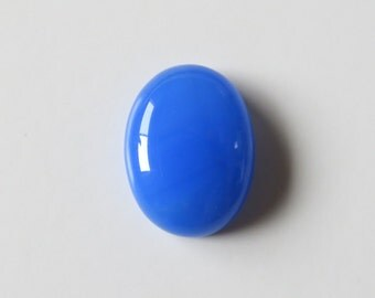 Blue Chalcedony - Oval Cabochon, 16.50 cts - 15x20 (BC198)