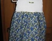 Maine made blueberry sleeveless cotton knit bodice dress size 12 months