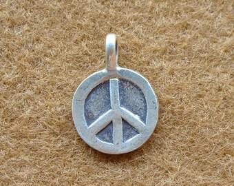 Karen Silver PEACE CHARM - 2 pieces