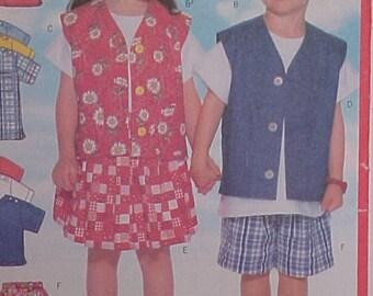 Toddler Wardrobe Pattern size 1 2 3  UNCUT