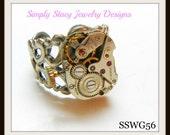 Seventeen Jewels Watch Guts Ring - Steampunk Ring - SSWG56