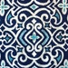 Decorative-Accent Body Pillow Cover - Approx 20 X 54 inch Navy, Turquoise and White Ikat Damask-Free Domestic Shipping