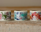 Wide Washi Tape - Birds, Plants, Animals - Set of 3