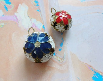 Cloisonne Bell Beads    2pc