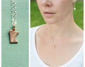 Bitty Brass Minnesota Necklace