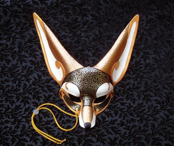 Venetian Fennec Fox Mask... handmade leather mask fox by ...