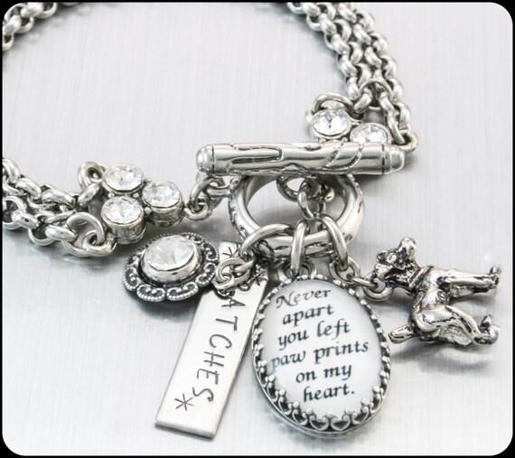 Memory Charm Bracelets: Personalized Dog Bracelet Dog Jewelry Dog By BlackberryDesigns