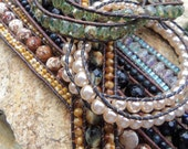 Triple Row (AND Multi Wrap) Leather Bracelet Jewelry Tutorial PDF - INSTANT Download