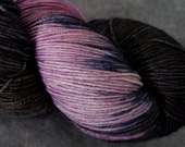 Hand Dyed Sock Yarn - BFL/Nylon- 463 yds - Black Raspberry