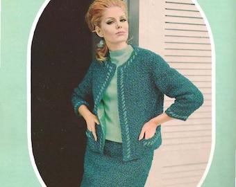 Crocheted Open Jacket Suit (U15)
