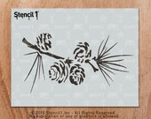 Pine Branch, Holiday, Christmas, Stencil- Reusable Craft & DIY Stencils- S1_01_83 -8.5x11- By Stencil1