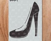 Vampy Heel Stencil - Reusable Craft & DIY Stencils - S1_01_122 - By Stencil1