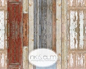 """Backdrop Vinyl Photography Background 6ft x 6ft, Old Vintage Wood Wall, Antique Peeling Wall, Painted wood wall backdrop """"Urban Post"""""""