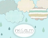 """Photography Backdrop 6ft x 5ft, Vinyl Backdrop, Clouds and Rain Sky Photography Background, Cloudy Rain Sky, Ink and Elm's """"Cheerful Skies"""""""